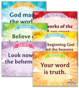 IncrediWorld Amazement Park VBS Toddler Memory Verse Posters (NKJV Version; Set of 6)