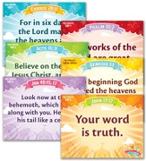 IncrediWorld Amazement Park VBS Pre-Primary Memory Verse Posters (KJV Version; Set of 6)