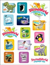 IncrediWorld Amazement Park VBS Logo Sticker Sheets  (Pack of 10)