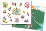 IncrediWorld Amazement Park VBS Sticker Sheets with Picture (Pack of 10)