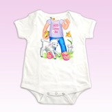 God Loves Me Romper, Girl, 12 Months