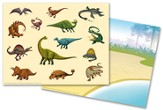 IncrediWorld Amazement Park Dinosaur Sticker Sheets with Picture (Pack of 10)