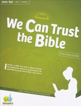 Answers Bible Curriculum Year 1 Quarter 1 Jr. High Teacher Guide with DVD-ROM