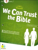 Answers Bible Curriculum Year 1 Quarter 1 Adult Teacher Guide with DVD-ROM