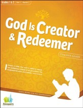 Answers Bible Curriculum: God is Creator & Redeemer Grades 1&2 Teacher Guide with DVD-ROM Year 1 Quarter 2