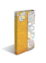 CEB Pocket Thin Bible w/magnetic closure, Soft leather-look, Butterscotch Garden