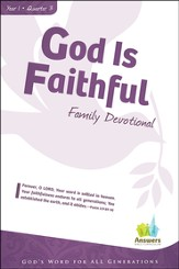 Answers Bible Curriculum: God Is Faithful Adult Family Devotional Book Year 1 Quarter 3