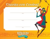 Kingdom Chronicles Visitor Appreciation Certificates (pack 10)