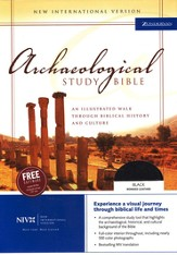 NIV Archaeological Study Bible, Bonded Leather Black, Indexed  1984