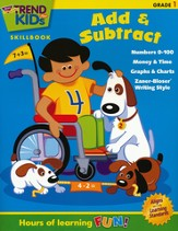 TREND for KIDs, Add & Subtract Skillbook, Grade 1