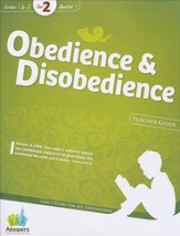 Answers Bible Curriculum: Obedience & Disobedience  Grades 1-2 Teacher Guide with DVD-Rom (Year 2 Q1)