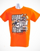 Guard Heart Shirt, Orange, Small