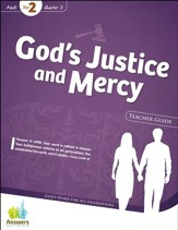 Answers Bible Curriculum: God's Justice & Mercy Adult Teacher Guide with DVD-ROM (Year 2 Quarter 3)