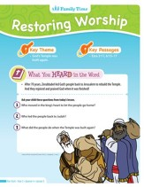 Answers Bible Curriculum: God Protects & Restores  Preschool Student Take Home Sheets (Year 2 Quarter 4)