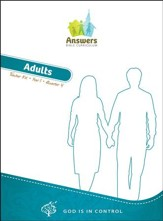 Answers Bible Curriculum: God Is in Control Adult  Teacher's Kit Year 1 Quarter 4