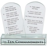 Ten Commandments Glass Plaque