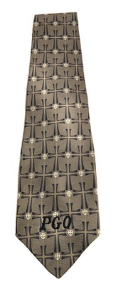 Personalized, Cross Neck Tie, Blue and Gray