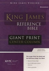KJV Giant Print, Center-Column Reference, bonded burgundy - Slightly Imperfect