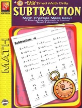 Easy Timed Math Drills: Subtraction