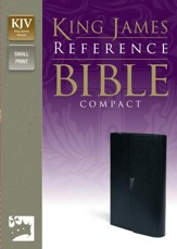 KJV Compact Reference Bible, Button Flap, Bonded Navy Blue