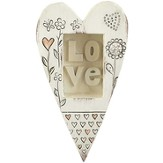 Love, Heart Plaque