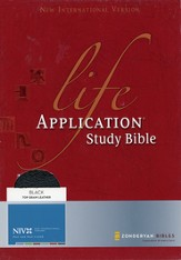 NIV Life Application Study Bible, Revised, Top Grain leather, black - Slightly Imperfect