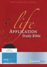 NIV Life Application Study Bible, Revised, Bonded leather, black 1984 - Imperfectly Imprinted Bibles