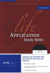 NIV (1984) Life Application Study Bible, Revised--bonded leather, black, Case of 12