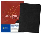 NIV Life Application Study Bible, Revised, Bonded leather, black--indexed - Slightly Imperfect