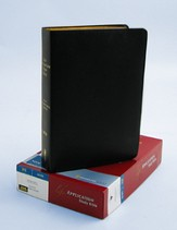 NIV Life Application Study Bible, Revised, Top Grain leather, black--indexed - Slightly Imperfect