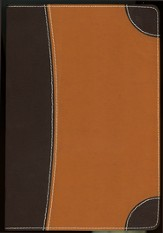 NIV Archaeological Study Bible Mahogany/Caramel Bonded Leather 1984
