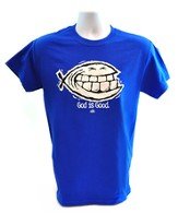 God Is Good/Smiley Ichthus T-Shirt, Royal Blue, X-Large (46-48)