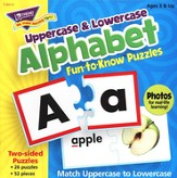 Alphabet Upper & Lowercase Fun-to-Know Puzzles