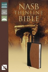 NASB Thinline Bible, Imitation leather, black/tan duo-tone