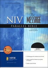 NIV/The Message Parallel Bible, Bonded leather, black