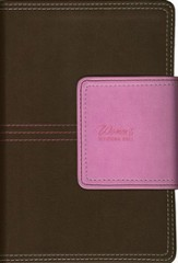 NIV New Women's Compact Devotional Bible--soft leather-look, chocolate/orchid