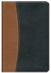 NIV Compact Thinline Reference Bible, Italian Duo-tone, tan/black 1984