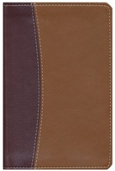 NIV Compact Thinline Reference Bible, Italian Duo-tone, burgundy/tan 1984