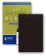 NIV Compact Thinline Bible, bonded burgundy  - Slightly Imperfect