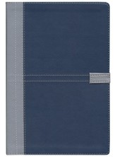 NIV Student Bible, Duo Tone silver/slate blue 1984 - Imperfectly Imprinted Bibles