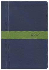 NIV Quest Study Bible, Soft leather-look, Marine blue/Meadow green 1984