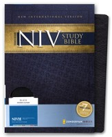Zondervan NIV (1984) Study Bible--bonded leather, black, Case of 12
