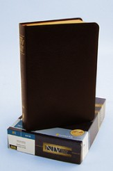 Zondervan NIV Study Bible, Bonded Leather, Burgundy,  Thumb-Indexed 1984