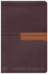 Zondervan NIV Study Bible, Personal-Size--Burgundy/Rust (Soft leather-look) - Slightly Imperfect