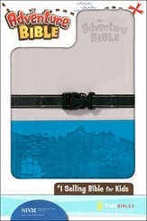 Adventure Bible, NIV, Clip Closure, Italian Duo-Tone, Gray/Blue - Slightly Imperfect