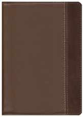 NIV Study Bible, Compact Edition--Renaissance fine leather, rich brown/espresso 1984