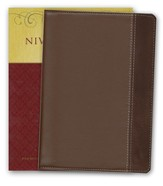 NIV Study Bible, Compact Edition--Renaissance fine leather, rich brown/espresso 1984, Case of 16