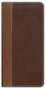 NIV Trimline Bible, Renaissance Fine Leather, Sienna/Espresso 1984