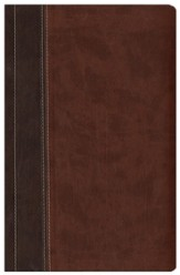 NIV Archaeological Study Bible, Large Print Hardcover/Duo-Tone Chocolate/Dark Caramel 1984 - Imperfectly Imprinted Bibles