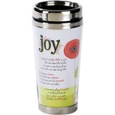 Joy, Flower Travel Mug